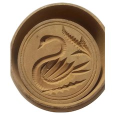 Swan design wood butter mold