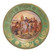 Royal Vienna style Napleonic scene plate