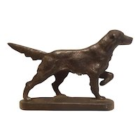 Cast iron pointer dog statue