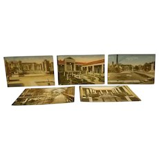 5 Early 20th century postcards of pompei