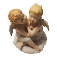 Homco kissing angels figurine