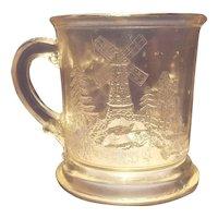 EAPG pattern glass child's mug