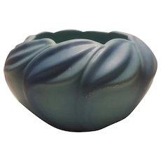Early 1940's Van Briggle ming blue bowl