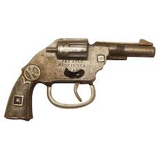 Kilgore Invincible cast iron nickel plated cap gun