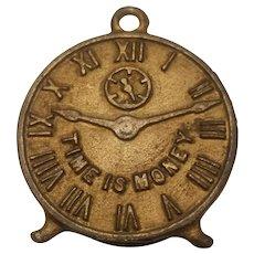'Time is money' clock face still bank