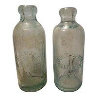 2 Antique hutchinson type bottles from Iowa
