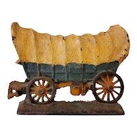 Cast iron conestoga wagon doorstop