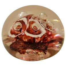 Art glass paperweight signed J. B.