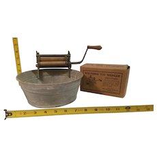 Wolverine toy wringer washer and galvanized wash tub