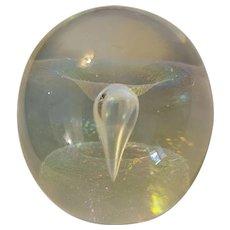Robert Eickholt signed art glass paperweight