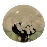 Art glass paperweight signed Levay