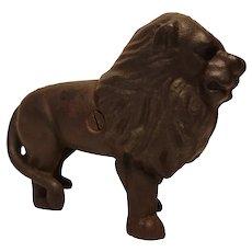 Cast iron lion form bank