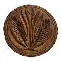 Antique wheat design butter press