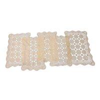 5 Crocheted lace rectangular doilies