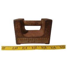 Fairbanks-Morse 5 pound cast iron scale weight