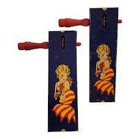 Tin litho noisemakers patent 1928, matching pair