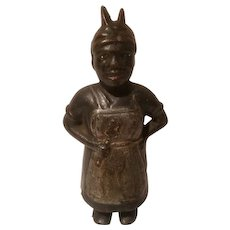 Cast iron Aunt Jemima bank made by A C Williams