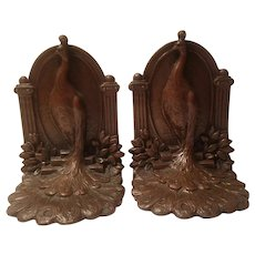 Weidlich Brothers number 641 peacock bookends made in 1925