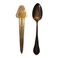 Century of progress expo souvenir bookmark and spoon