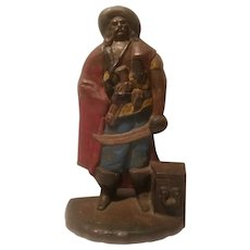 Cast iron pirate doorstop number 198 by Albany Foundry