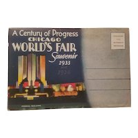 Souvenir postcard booklet from 1933-34 century of progress exposition in Chicago