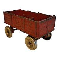 Arcade cast iron red wagon