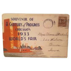 Souvenir postcard booklet from the century of progress exposition in Chicago