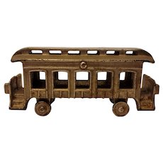 Nickel plated cast iron train car