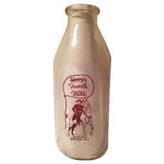 Hoppy's favorite Northland Dairy milk bottle marked duraglas made 1953