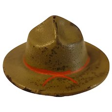 WW1 campaign hat cast iron paperweight