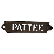 Cast iron pattee tool box