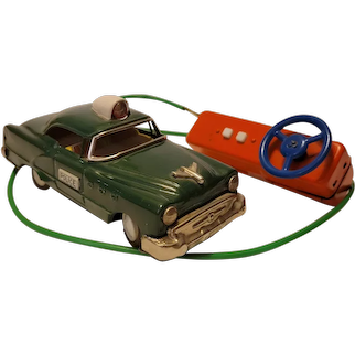 1950's Linemar remote control police car