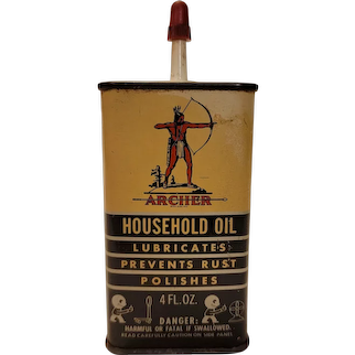Archer household oil can