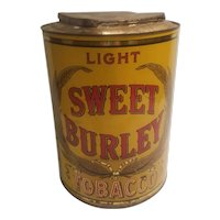 Sweet burley tobacco store tin early 20th century
