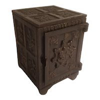 Security safe deposit cast iron bank patent 1881 & 1897