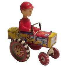 Marx tin litho crazy car with boy driver