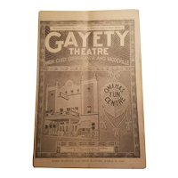 1920 advertising booklet from the Gayety Theater in Omaha