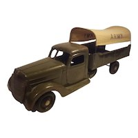 Buddy L army truck with canvas top