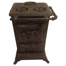 Cast iron gas stove bank, Bernstein Co.