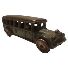 Cast iron bus with driver