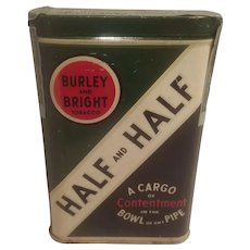 Half and half tobacco pocket tin