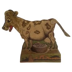 Tin litho moo-oo cow toy