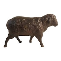 Cast iron black sheep bank