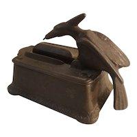 Cast iron bird match grabber