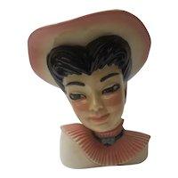 'Bonnie' head vase by Ceramic Art Studio