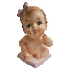 Baby shaped head vase marked Velco