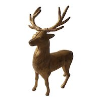 Large A C Williams cast iron reindeer bank