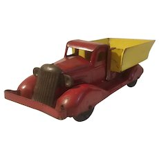 Marx pressed steel truck with wooden wheels