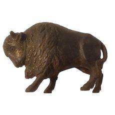 Cast iron buffalo bank