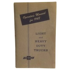 1948 Chevrolet truck operator's manual